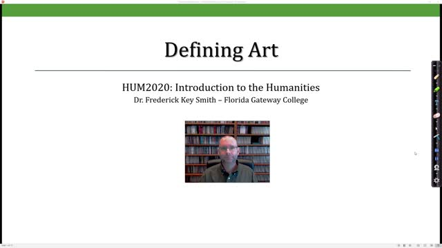 Defining Art Lecture Video