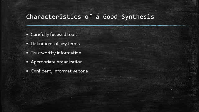Introduction to Synthesis